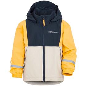 DIDRIKSONS Block Jacket Kids, blauw/geel